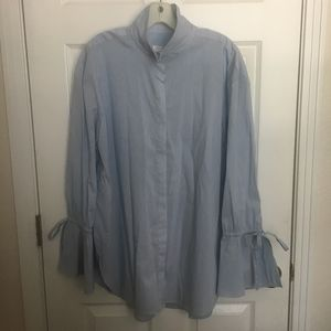 NWT Treasure & Bond Shirt With Tie Cuff - XL